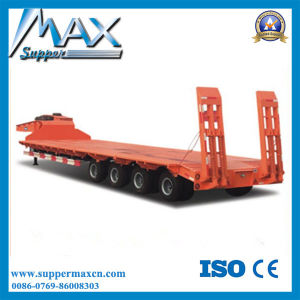 80t-100t Low Flatbed/Lowboy Semi Truck Trailer (LAT9406TDP) pictures & photos