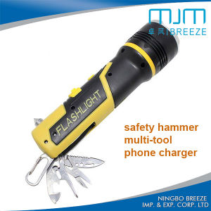 Emergency Multi Color Safety Hammer Multifunction Flashlight pictures & photos