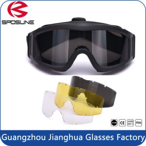 Green TPU Frame Hot Sale Army Protective Military Ballistic Goggles pictures & photos
