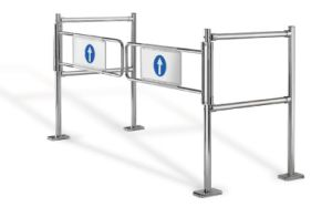 Bi-Directional Gate Ability to Allow Free Passage Through The Gate From Either Direction, Security Swing Gate pictures & photos