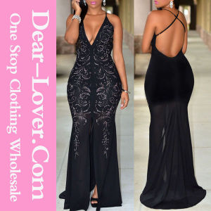 Black Elegant Prom Evening Formal Cocktail Dress Gown pictures & photos