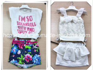 Kids Dress Short Sleeve and Shorts Suit for Girl pictures & photos