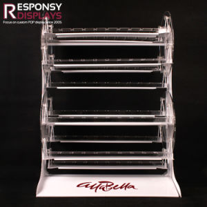 Custom Countertop Revolvable Cosmetic Clear Acrylic Nail Polish Display Stand pictures & photos