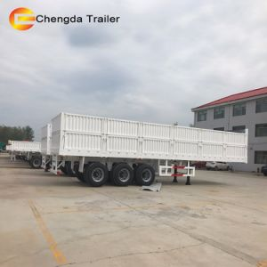 3 Axle 40 Ton Side Wall Side Panel Cargo Trailer pictures & photos
