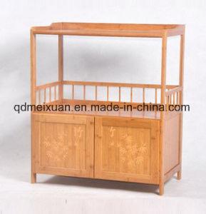Kitchen Shelf Nanzhu Microwave Oven Rack Shelf Receive Cupboard Ambry Book Shelf (M-X3386) pictures & photos