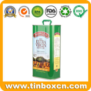 Food Metal Tin Can Container for 3L Olive Oil pictures & photos