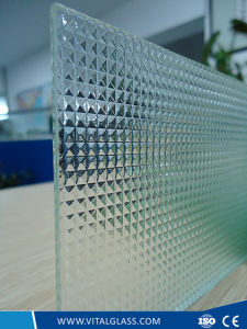 Clear/White Crystal Patterned/Figured Diamond Glass pictures & photos