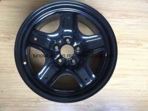 Black Finish High Quality Five Star Steel Wheel Rim 17X7.5 pictures & photos