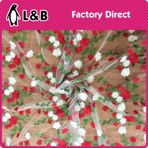Colorful Flower Embroidery Lace Trim Fabric for Wedding pictures & photos