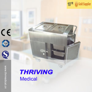 Thr-FC005 Hospital Stainless Steel Food Warmer Trolley pictures & photos