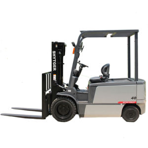 4ton 4-Wheel Electric Forklift with 3-Stage Mast pictures & photos