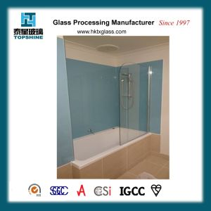 Fashion Design Colorful Painted Glass Wall for Shower Room pictures & photos