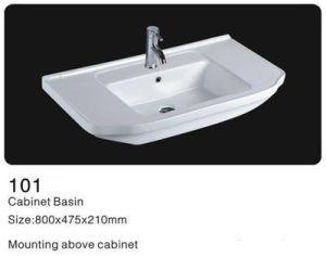 Rectangle Cabinet Ceramic Washbasin, Bathroom Ceramic Wash Sinks pictures & photos