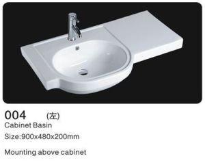 Rectangle Ceramic Cabinet Wash Sinks, Ceramic Wash Basin pictures & photos