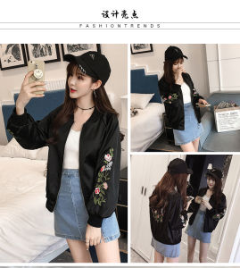 Embroidery Bomber Jacket Women Casual Winter Women Ladies Girls Bomber Jacket pictures & photos