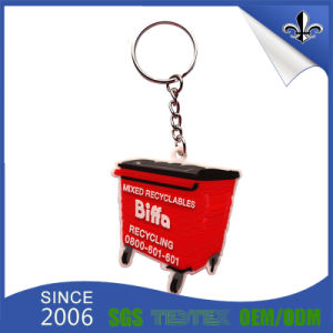 Red Colorful Fashion Car Design PVC Keychains with Metal Ring pictures & photos
