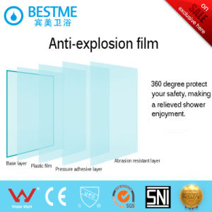 Frameless Bathroom Diamond Shape Stainless Steel Shower Room (BL-Z3502) pictures & photos