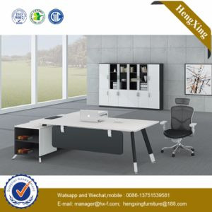 Chinese Office Furniture Glass Top Metal Executive Office Desk (UL-NM120) pictures & photos