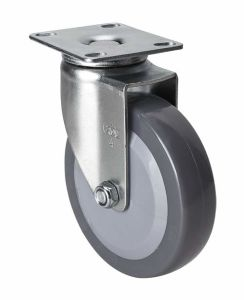 """Edl Light 4"""" 70kg Plate Swivel PU Caster 3614-74"""