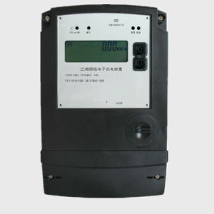 Intelligent Three Phase Electronic Kwh Meter with LCD Display pictures & photos
