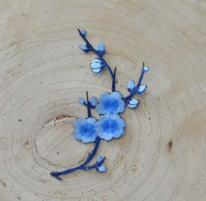 Blue Color Plun Blossom Garment Accessories Embroidery Flower Ym-47 pictures & photos