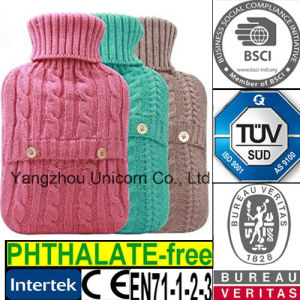 SGS / BS1970: 2012 / Phthalate Free / TUV Rubber Hot Water Bottle pictures & photos