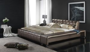 Modern Bedroom Furniture - Leather Bed (6015) pictures & photos