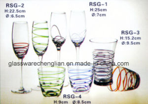 Drinking Glass Sets with Solid Colorful Swirls (RSG-2) pictures & photos