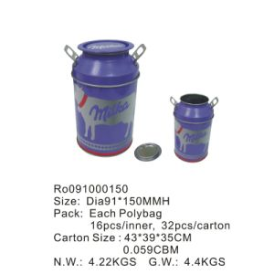 Bucket Shape Tin Box with Printing Custom Artworks pictures & photos