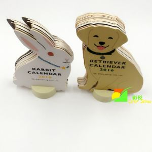 Printing Cardboard Paper Animal Sharp Board Small Calendar pictures & photos