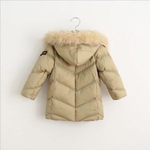 Children Boy Coat with Fur Hood for Kids Wear Clothing pictures & photos