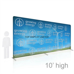 Pop up Tradeshow Backdrop Fabric Vinyl Banner Display Customized Exhibition Equipment Factory Exhibition Booth Advertising Stand Store Pop up Display pictures & photos