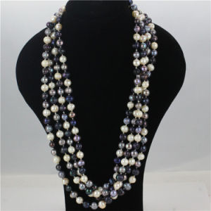 Snh 100inches Long Mixed Color Bead Pearl Necklace Jewelry pictures & photos