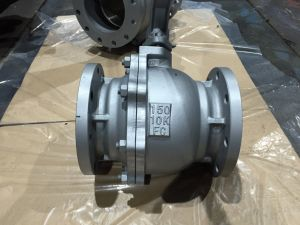 JIS 10K Full Bore Cast Iron ball valve pictures & photos