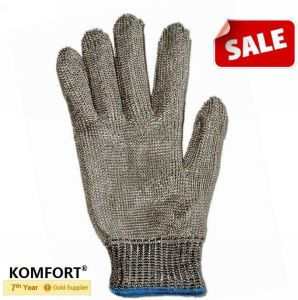 Cut Resistant Working Stainless Steel Mesh Glove for Butcher (JMC-384D) pictures & photos