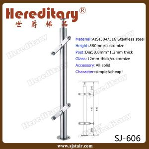 Stainless Steel Railing Post Glass Balustrade (SJ-606) pictures & photos