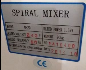 Industrial Spiral Dough Mixer Machine pictures & photos