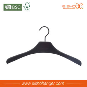 Eisho Elegant Black Wooden Suit Hanger pictures & photos