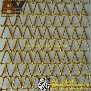 Decorative Spiral Weave Mesh Architectural Conveyor Belt pictures & photos