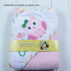 Popular Cotton Baby Hooded Bath Towel Poncho pictures & photos