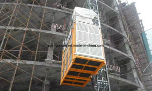 Building Used Single Cage Construction Hoist with Hop Deep Galvanized Mast Section pictures & photos