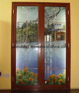 Aluminum Door in Brown Color