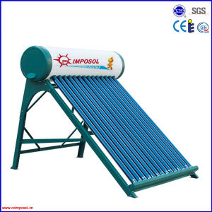 Galvanized Steel Compact Non-Pressurized Solar Water Heater with CE pictures & photos