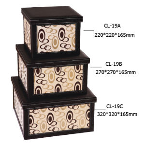 High Quality Leather Storage Boxe (CL-19)