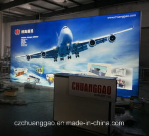 Chuanggao Exhibition 3m*6m Freestanding Double Sided Tension Fabric LED Light Box pictures & photos