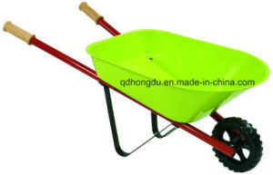 Hot Sale Wh6601 Wheel Barrow with Wooden Handle pictures & photos
