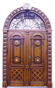 Newly Design High Quality Maranti Wooden Door pictures & photos