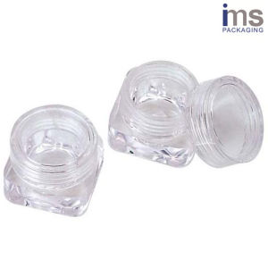 3ml Square Plastic Cosmetic Pot pictures & photos