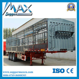 3 Axle Flat Deck Cargo Removable Side Wall Semi Trailer pictures & photos
