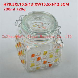 Large Food Glass Jar Big Seal Glass Jar 1300ml Candy Glass Jar pictures & photos